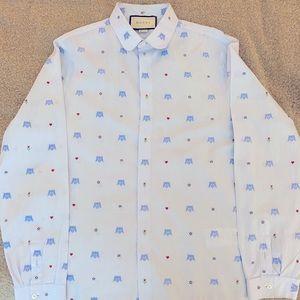 Men's Gucci Dress Shirt - Light Blue - Size 15.5